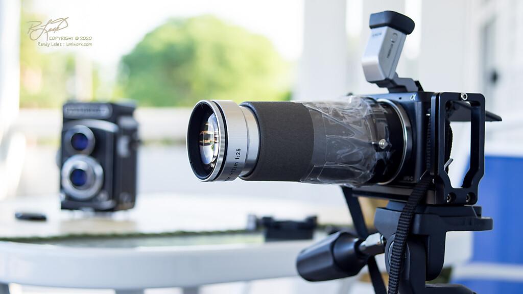 Leitz Hektor 12cm f/2.5 - Projector lens from a Prado 500