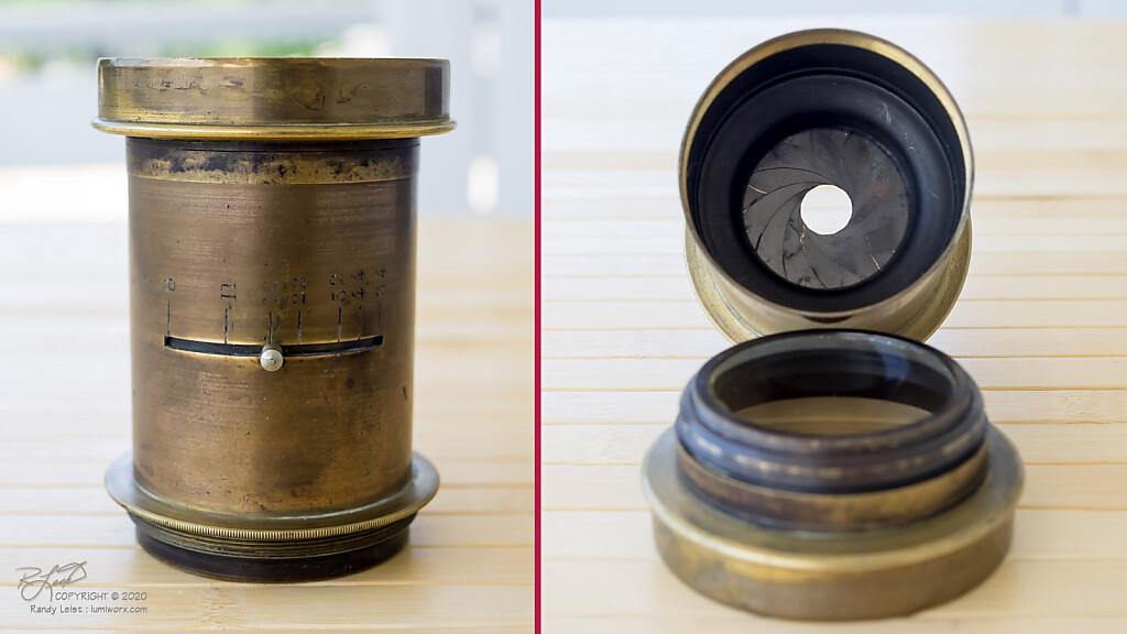 """Unbranded Rapid Rectilinear Barrel Lens - 10"""", f/8"""
